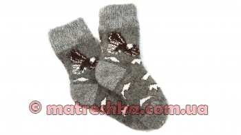 Детские шерстяные носки