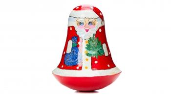 """Дерев'яна іграшка-неваляшка """"Дід Мороз"""""""