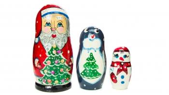 """Дерев'яна іграшка """"Дід Мороз"""""""